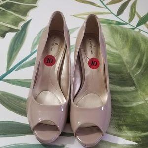 Peep Toe Nude Heels